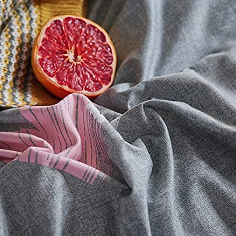 Soft Secret Language Grey 2//3 4PCS Funda n/órdica y Funda de Almohada 4PCS Incluye s/ábana Plana 200TC Textiles para el hogar Fibra de poli/éster Simple y Elegante WNJ-bedding Fundas de edred/ón