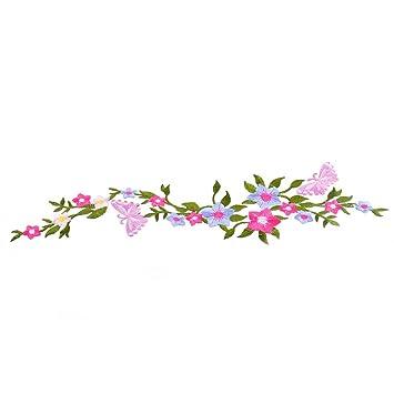 souarts DIY Schmetterling Blume Bouquet Stickerei Stoff Applikation ...