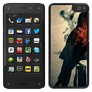CASECO - Amazon Fire Phone - Mystic Owl - Delgado Negro Plástico caso cubierta Shell Armor Funda Case Cover - Mystic Búho