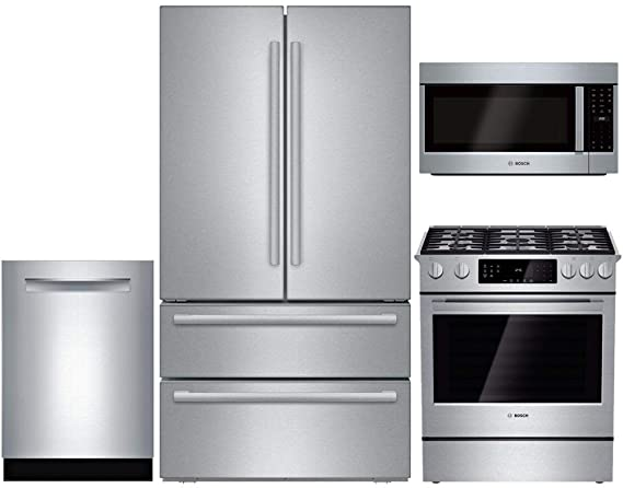 b043b8e4b3a Bosch 4 Piece Stainless Steel Kitchen Package B21CL81SNS 36 quot French  Door Refrigerator
