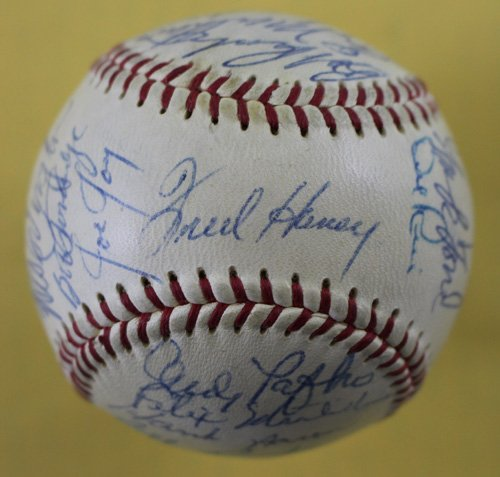 Milwaukee Braves Replica (1958 Milwaukee Braves Autographed ONL Baseball Aaron, Spahn, Mathews + 21 JSA)