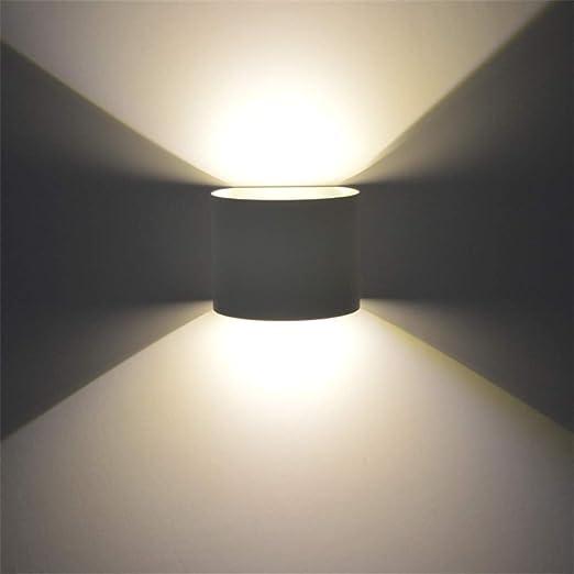 Lámpara de Pared Redonda Impermeable Regulable LED Aluminio ...