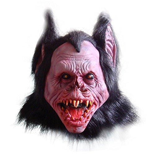 [Fluorodine Men's Bat Monster Mask Gruesome Demon Vampire Costume for Halloween] (Gruesome Bat Mask)