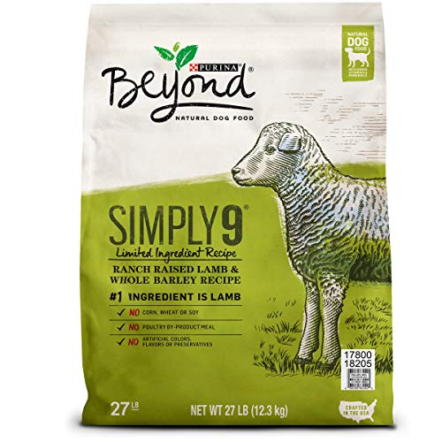 Purina Beyond Limited Ingredient, Natural Dry Dog Food, Simply 9 Ranch Raised Lamb & Barley Recipe - 27 lb. Bag (Homemade Dry Dog Food Recipes For Small Dogs)
