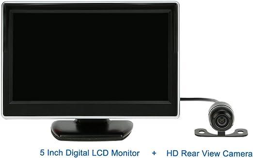 Kkmoon 5 Zoll Tft Lcd Digital Auto Sicherheits View Monitor Für Vcd Dvd Gps Kamera Verfügbar Hd Rückfahrkamera Auto
