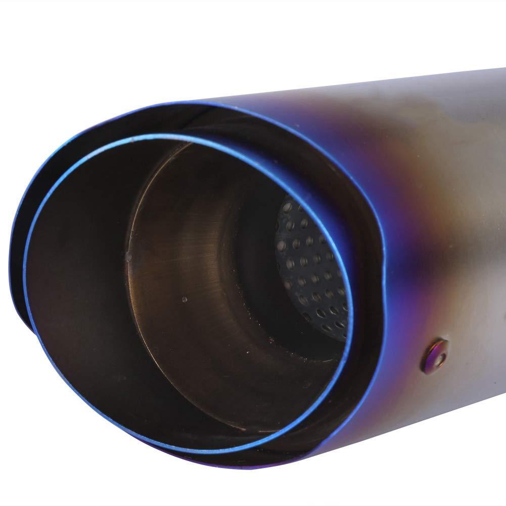 Tubo di Scarico,51mm Universale Moto Obliquo Slip sul Tubo di Scarico Terminale di Scarico del Silenziatore di Scarico #1