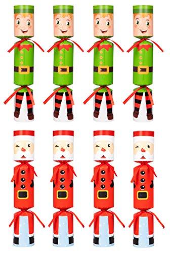 Moon Boat 8 Packs Christmas No-snap No-pop Santa Claus Elf