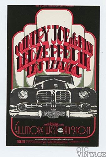 Bill Graham Postcard 155 Led Zeppelin 1969 Jan 9