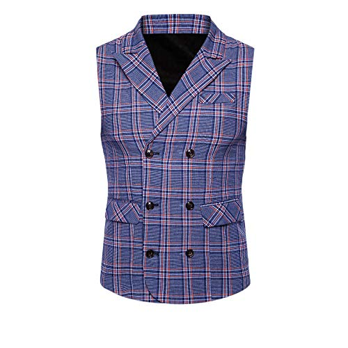 SMALLE ◕‿◕ Clearance,Men Plaid Casual Printed Sleevele