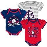 St. Louis Cardinals Newborn Baby Girls Triple Play 3-pk Bodysuit Creeper Set