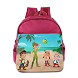 Kids Jake And The Never Land Pirates School Backpack Cartoon Baby Boys Girls School Bags Pink