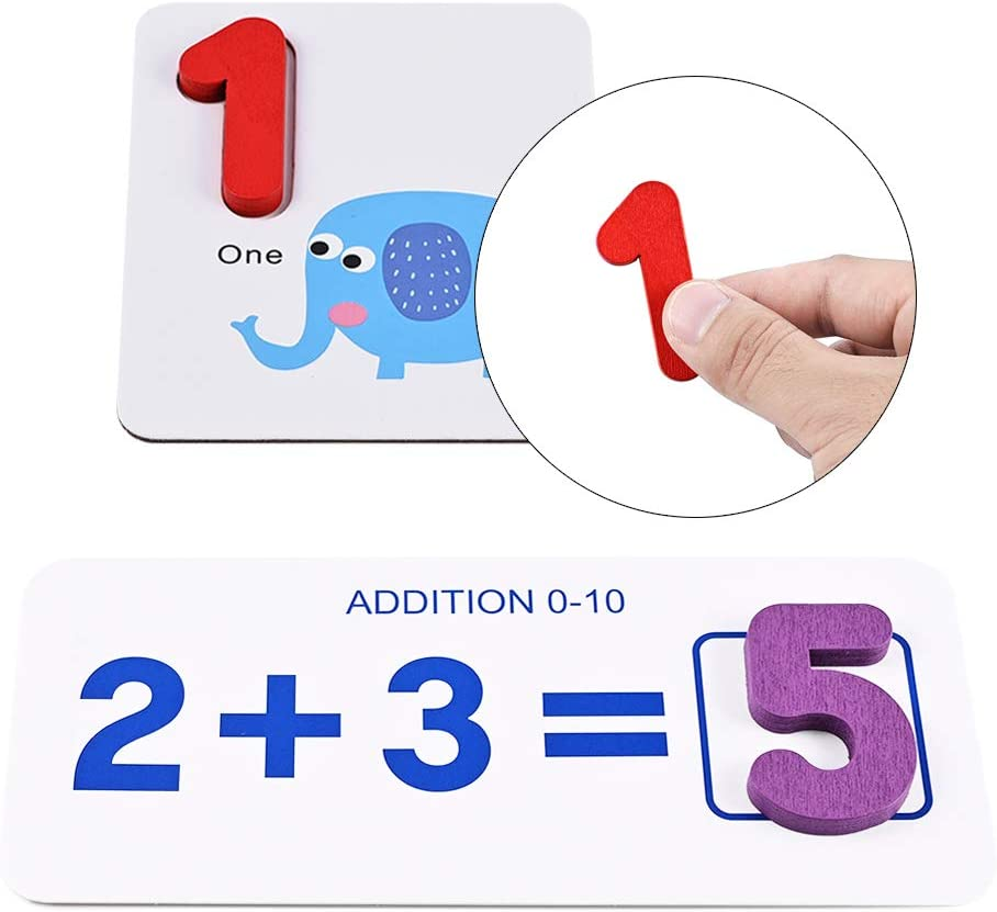 Numbers GOLDGE See and Spell Learning Toy Cards for Develops Vocabulary and Spelling Skills Spelling Games Wooden Developmental Toys Puzzle Preschool Toys Include Letters