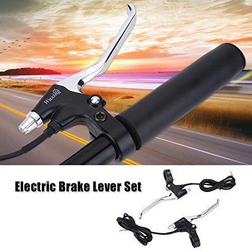 Vbestlife Bicycle Brake Levers Set 1 Pair Mountain Road Aluminum Bike Bicycle Brake Handle Electric Bike Brake Lever V Brake Handle 2 Wires Left&Right Bicycle Replacement Parts