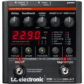 TC Electronic Nova Delay Guitar Delay Effects Pedal