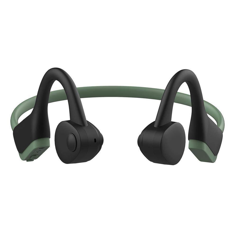 TEEPAO 骨伝導ヘッドホン 軽量 スマート 高速充電 耳 ワイヤレス スポーツ ヘッドセット iPhone Android Bluetooth 5.0 - ジョギング ランニング ドライビング サイクリング 防汗 B07P9J4BGV  ブラックグリーン B07P9J4BGV