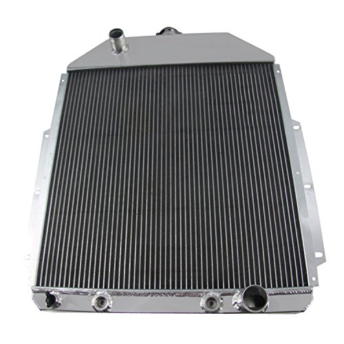 CoolingCare 1942-1952 Ford Pickup Truck Aluminum Radiator, 4 Row Core Radiator for Ford F1 F2 F3 W/Chevy V8 Engine ()