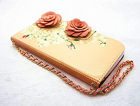 3D handbag Elegant Rose Flower PU Leather wallet flip slots Card Slot Cover skin Case for smart cell phones (LG Splendor/Venice /L86c/Optimus/US730 LG Optimus Showtime L86c (Phone Cases For Lg L86c Optimus)