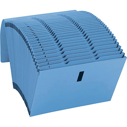 Smead WATERSHED/CUTLESS Expanding Files With Flaps, Blue