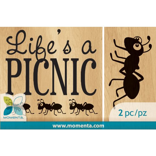 Ant rubber Stamps - Momenta Momenta Mounted Stamp Set, Picnic Ant