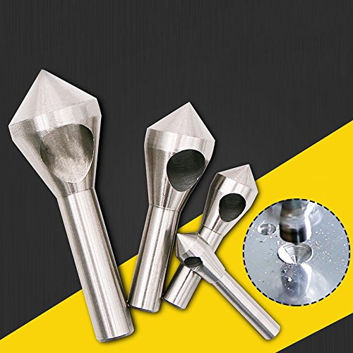 Metal Drilling Bits,Hongxin 3/4 Pcs/Set Deburring Countersink Drill Taper Hole Steel Aluminum Countersunk Head Chamfering Tool 2-5-10-15-20mm (4 Pcs/Set) by Hongxin (Image #2)