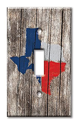 Art Plates - Single Gang Toggle OVERSIZE Switch / Wall Plate - Texas Map - Oversize Light Switchplates