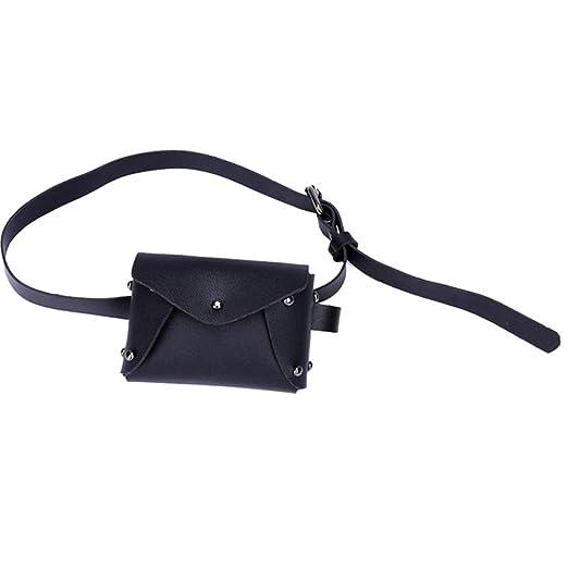 Stylish Black Small MIni Cute Leather Waist Fanny Belt Pack Bag Purse For  Little Kids Teen cc371a966ae71
