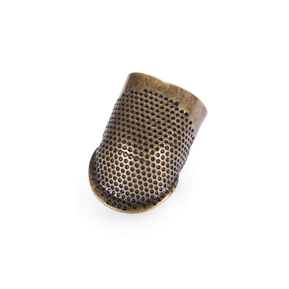 S thanksky Metal Needle Thimble,Finger Protector Antique Ring,DIY Crafts Handworking Sewing Accessories