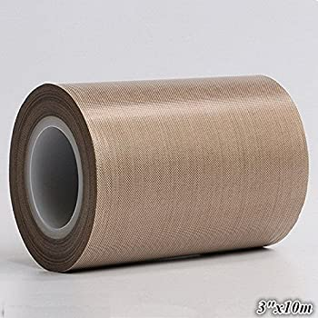 "5/""X 33 FT Brown PTFE Teflon Adhesive Tape High temperature tape 0.25mm*127mm*10M"