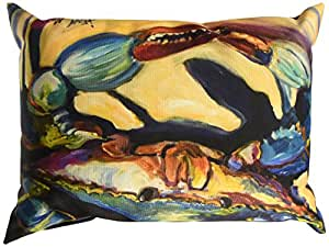 Caroline's Treasures JMK1094PW1216 Blue Crab Canvas Fabric Decorative Pillow, Large, Multicolor