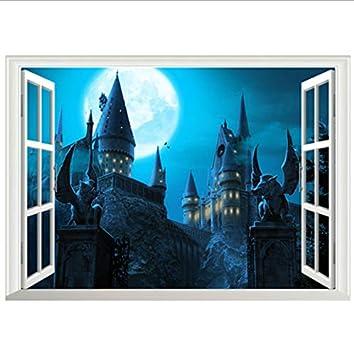 Cartel de la película de Harry Potter Castillo Mágico 3d ventana ...