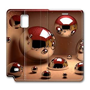 3D Ball Samsung Galaxy Note 4 Flip Leather Case Cover