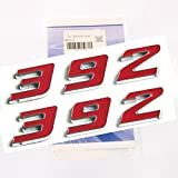 hemi emblem red - Yoaoo 2x OEM Red 392 Emblem Badge Alloy Decal 3d Logo for Dodge Hemi Challenger Chrysle 300c ( Red)