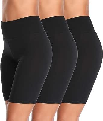 K-CHEONY Cotton Spandex Stretch Anti Chafing Boy Shorts Safety Panty Bike Shorts,Slip Shorts for Under Dresses