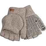 Kinco 5210 Alyeska Lined Ragg Wool Half Finger Glove with Pocket, Grey