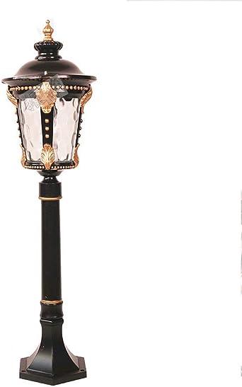 AXWT LED Villa High Pole Jardín del jardín Comunidad continental Farola Tradición Estilo victoriano Lámpara de pie impermeable al aire libre Lámpara de columna Linterna[Clase de eficiencia energética: Amazon.es: Iluminación