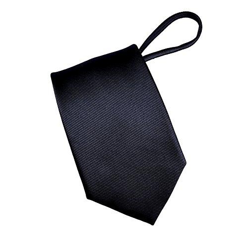 (Mens Zipper tie Solid Color Mens Neck Tie)