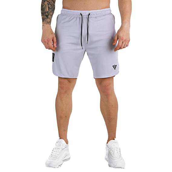 Wangdo Mens Workout Shorts 7 Running Shorts Athletic Bike Shorts Gym Shorts for Men with Zipper Pocket