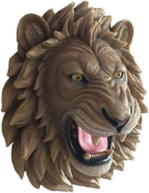 Supporto da parete per tassidermia falso della fauna selvatica DWK-HD43805 Roaring Lion