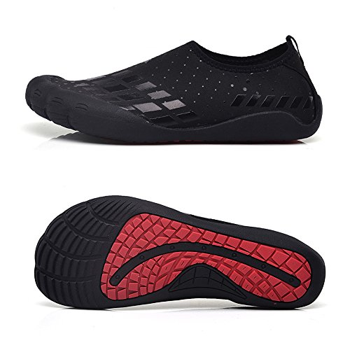 Water Shoes for Men Quick-Dry Aqua Sock Outdoor Athletic Sport Shoes for Kayaking,Boating,Hiking,Surfing,Walking (Size 13, Black)