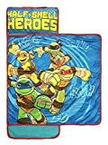 Nickelodeon Teenage Mutant Ninja Turtles Half Shell Heroes Kids/Toddler/Children's Nap Mat with Built in Pillow and Blanket Featuring – Raphael, Michelangelo, Leonardo, & Donatello