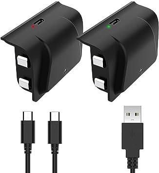 Juego de 2 baterías Recargables para Mando de Xbox One, 2 baterías ...