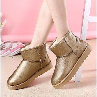 Deutsches Elektronen-Synchrotron Damen Stiefel Snow Boots Fashion Stiefel Fall Winter PU Casual Kleid Camel Beige Weiß Gold unter 1in gold