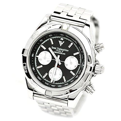 Izax Valentino Chronograph Watch Black IVG-8000-3 - Mens Watch Valentino
