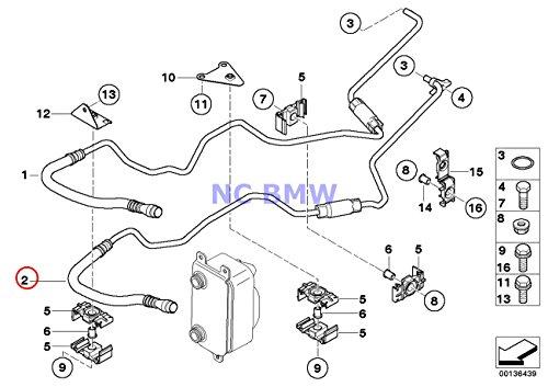BMW Genuine Transmission Oil Cooler Line Oil Cooling Pipe Outlet 745i 745Li