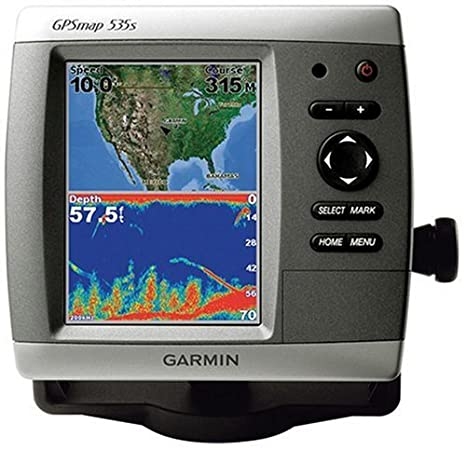 Garmin GPSMAP 535s 5 Inch Waterproof Marine GPS And Chartplotter With Dual Beam Transducer