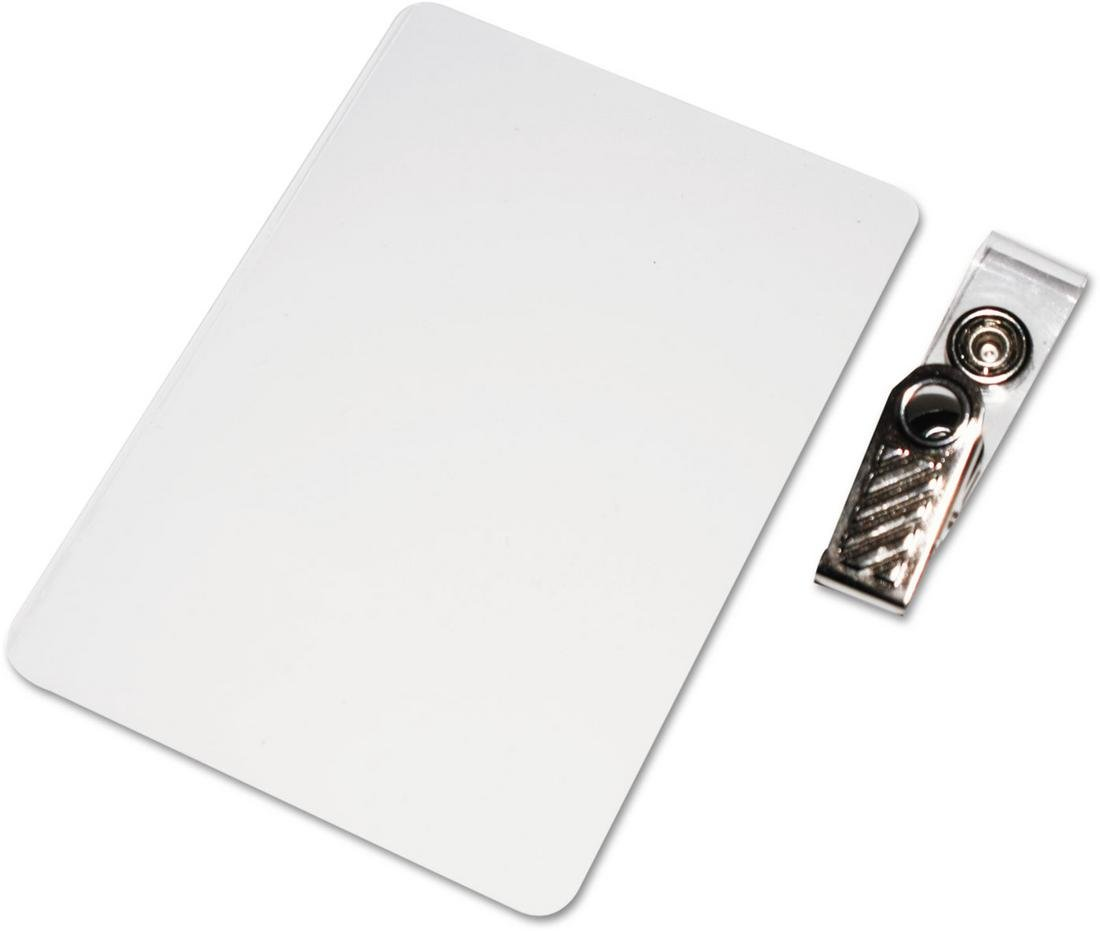 Universal 84610 Clear Laminating Pouches, 5 mil, ID Tag with Clip, 3.9 x 2.6, 25/Pack