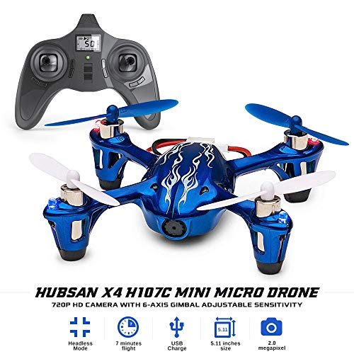 Tekstra Hubsan X4 H107C Mini Micro Drone for Kids, 720P HD Camera, 6-Axis Gimbal Adjustable Sensitivity, Modes Function, Small Quadcopter, Best Gifts ()