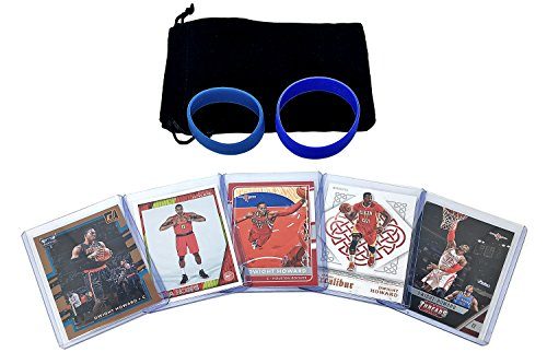 Dwight Howard Basketball Cards Assorted (5) Bundle - Charlotte Hornets, Atlanta Hawks, Houston Rockets Trading Card Gift Pack