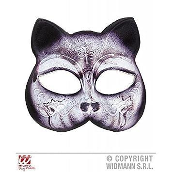 Estable Máscara de pestañas noble Gato / Máscara de gato hecho de tela (Tiermaske)