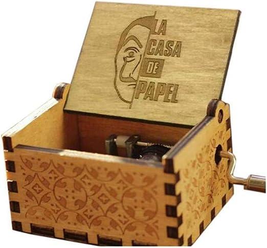 The Paper House La Casa De Papel Caja De Música Vintage Tallada ...